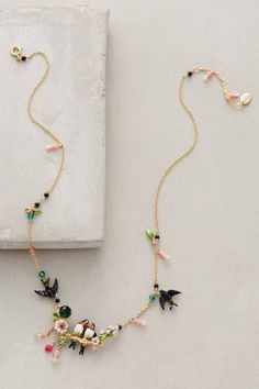 Lovebird Wreath Necklace by Les Nereides