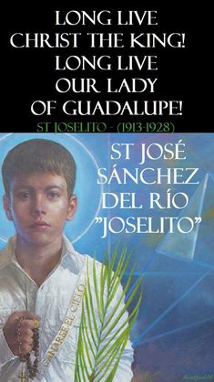 """Quote/s of the Day – 10 February – The Memorial of St José Sánchez del Río """"Joselito""""(1913-1928) – AnaStpaul Catholic Saints, Roman Catholic, Catholic Art, St Jose, Prayers Of The Saints, Patience Quotes, St John Vianney, Light Of Christ, St Ignatius"""