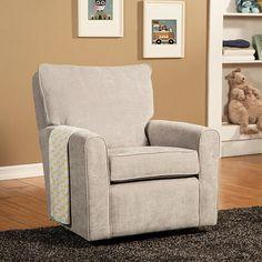 "Little Castle Kacy Collection Madison Glider - Crush Silver - Little Castle Furniture - Babies ""R"" Us"