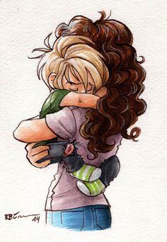 Hermione holding baby Draco by CaptBexx