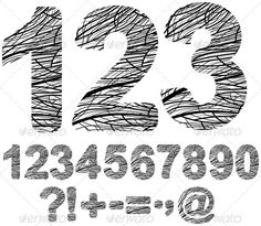 Creative design numbers