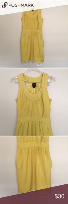 Gorgeous BEBE Summer Dress Gorgeous BEBE Summer Dress. Fully lined. Side zipper and side pockets. Zipper on side of dress. 2B Bebe Dresses