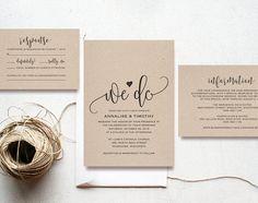 "pocket fold wedding invitations ""kaitlyn"" blush pink & navy blue, Wedding invitations"