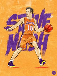 new style 3e875 29e3e Steve Nash  Nash-ty  Art I Love Basketball, Basketball Socks, Basketball