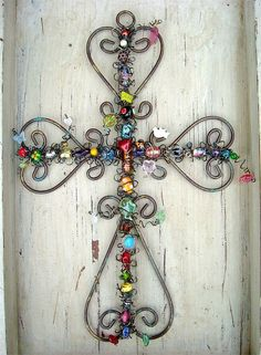 wire beaded cross.
