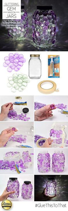 Diy Wedding Gifts From Kids Mason Jars Ideas Pot Mason Diy, Mason Jar Gifts, Glitter Mason Jars, Jar Crafts, Bottle Crafts, Crafts With Glass Jars, Diy Bottle, Crafts To Make, Arts And Crafts