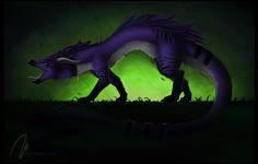 fantasy, dragon, toxic, kyuubreon, wiiolis, purple