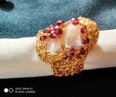 Wire Crochet, Beaded Rings, Napkin Rings, Garnet, Beads, Jewelry, Granada, Beading, Jewlery