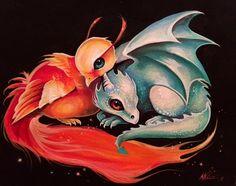 Phoenix & dragon! 💗