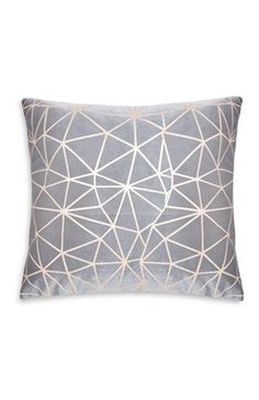 Rose Gold Geo Cushion
