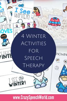 Do you need engaging activities for winter for preschool and early elementary students?  These interactive language lessons are perfect for speech therapy and special education! #speechtherapy