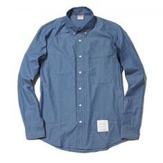 Denim Button Up, Button Up Shirts, Thom Browne, Supreme, Street Wear, Street Style, Formal, Classic, Tops