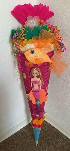 Schultüte Zuckertüte Mädchen Meerjungfrau Handarbeit Unikat