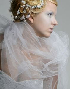 Tulle - Bridal Illusion - Glimmer Tulle- Nylon Netting- Organza