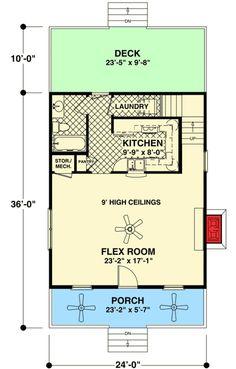 Cozy Cottage With Bedroom Loft - 20115GA floor plan - Main Level