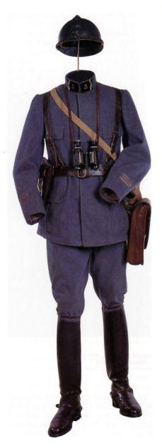 Tenue de capitaine en 1918