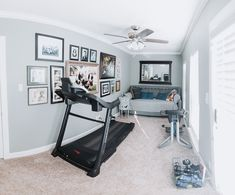 Happiness is a Guest Room That's also an Exercise Room<br>