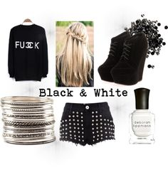 """""""Don´t cry ! Say FU*K you and smile ! (:"""" by celine444 ❤ liked on Polyvore"""