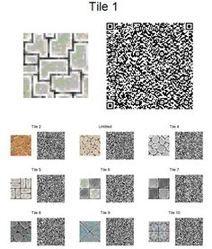 Animal Crossing: New Leaf QR Code Paths Pattern, johallicrossing: These and many more tiles and...