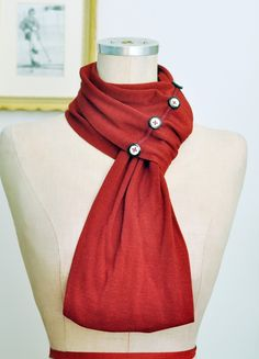 infinity scarf with buttons