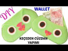 Keçeden Baykuş Görünümlü Cüzdan Yapımı / DIY Owl Wallet / KENDİN YAP - YouTube