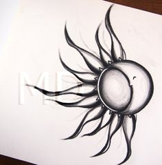 sun and moon tattoos | sun and moon tattoo by horseridertirsola traditional art drawings ...