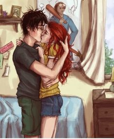 Fan Art of Harry and Ginny for fans of Harry Potter. It's not my fan art work.All rights belong to the autor Harry Potter 2, Fanart Harry Potter, Harry Y Ginny, Hery Potter, Images Harry Potter, Harry Potter Couples, Mundo Harry Potter, Harry Potter Universal, Potter Facts