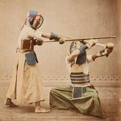 Kendo Japan, c.a.1870-1880 #kendo #kendoka