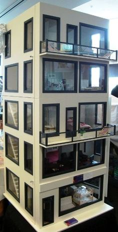 Modern miniature dollhouse.
