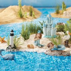 Once Upon A Garden™ Miniature Mermaid Garden Set, 8-Piece
