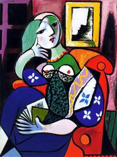 """""""Woman with book"""" by Pablo Picasso, oil on canvas, 1932"""