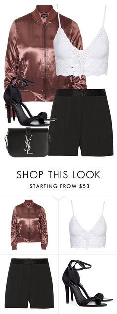 """""""Untitled #2735"""" by elenaday ❤ liked on Polyvore featuring Topshop, MICHAEL Michael Kors, H&M and Yves Saint Laurent"""