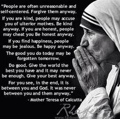 Such an inspiring woman. Mother Teresa