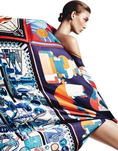 """Foile de Soie"" | Model: Karlie Kloss, Photographer: David Sims, Harper's Bazaar Spain, April 2013"