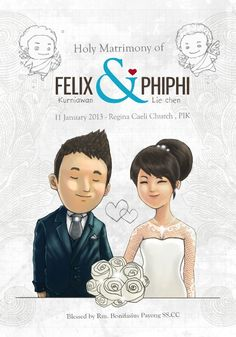 My Wedding Illustration by felixferdinand.com