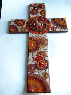 Sedona XL Mosaic Cross Original Art by TheMosartStudio on Etsy