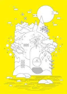 Neon Island by Ella Zheng, via Behance