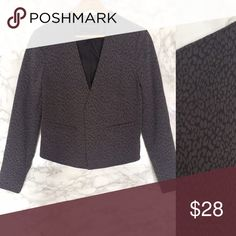 Banana Republic Leopard Collarless Blazer - Grey Subtle print, monochromatic, gorgeous piece like new! Banana Republic Jackets & Coats Blazers
