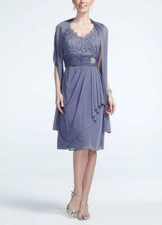Sleeveless Lace Bodice Jersey Dress Blue