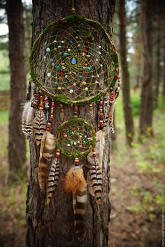 "Hunters handmade dreams.  Order ""forest treasure"" Dreamcatcher forest.  Diana Moskalenko (Magic Shop).  Arts and crafts fair."
