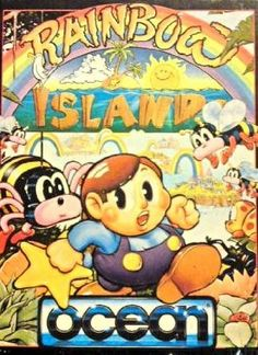 Rainbow Islands- the sequel to the legendary and iconic 80s platformer Bubble Bobble - Commodore 64, 1989