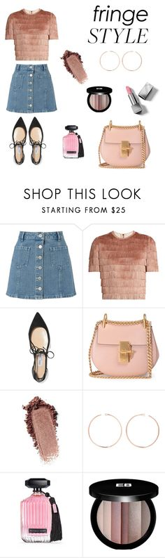 """PINKY FRINGE STYLE🍥"" by stylebyceylin ❤ liked on Polyvore featuring Miss Selfridge, Raey, Jimmy Choo, Chloé, Anita Ko, Victoria's Secret, Edward Bess and Burberry"