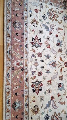 "Two room area rugs, one 8'x10' wool, one 5'9""x9' Karastan Oriental wool pile. 8x10 well made, very clean rose, cream, tan, burgundy, navy with short white fringe"