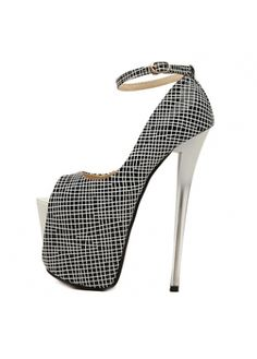 Fine Quality Peep Toe Plaid PU Pumps for Party - Online Shop! Platform High Heels, Sexy High Heels, High Heels Stilettos, High Heel Boots, Stiletto Heels, Buy Cheap, Ankle Strap, Shoes, Woman