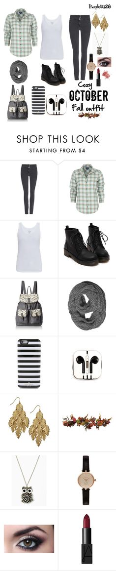 """Cozy October fall outfit"" by purpleri26 ❤ liked on Polyvore featuring мода, Wallis, Pendleton, Majestic, T-shirt & Jeans, Kate Spade, PhunkeeTree, Bar III, Nearly Natural и Barbour"