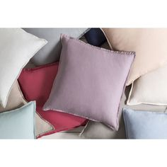 Decorative Iraq 20-inch Poly or Down Filled Pillow (Polyester - Light Blue), Size 20 x 20 (Cotton, Border)