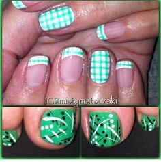 Gingham French tip design Do red and white for Dads party Shellac Nail Designs, Shellac Nail Art, Nail Polish, French Tip Design, Nail Ideas, Gingham, Art Work, Hair Makeup, Dads