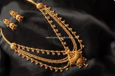 2 in 1 Gold 22 kt Kandoli and Haram Ornament is made of 22 kt Gold metal.Gold Kandoli is an ornament used mainly on the left side o. Mens Gold Jewelry, Gold Jewelry Simple, Baby Jewelry, Pearl Jewelry, Pendant Jewelry, Gold Earrings Designs, Gold Jewellery Design, Gold Haram Designs, Gold Designs