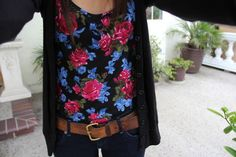 Floral shirt and the belt