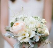 Rustic White and Dusty Miller Bouquet